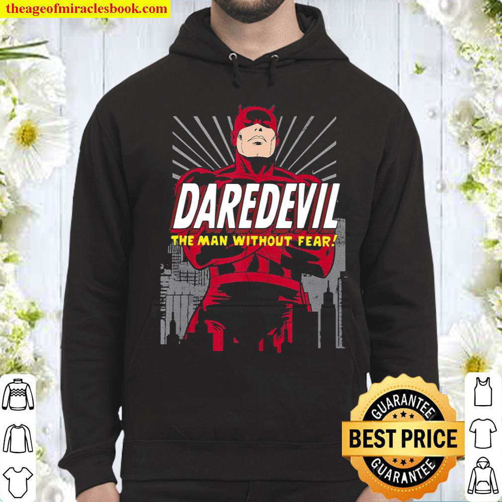 Marvel Daredevil The Man Without Fear Arms Crossed Portrait Hoodie