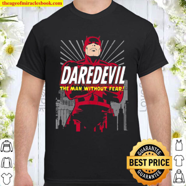 Marvel Daredevil The Man Without Fear Arms Crossed Portrait Shirt