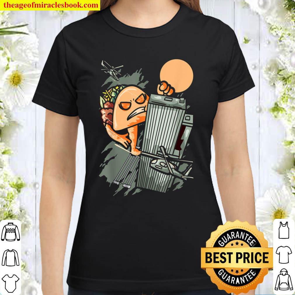 Taco Monster Funny Foodie Mexican Food Taco Lover Classic Women T Shirt