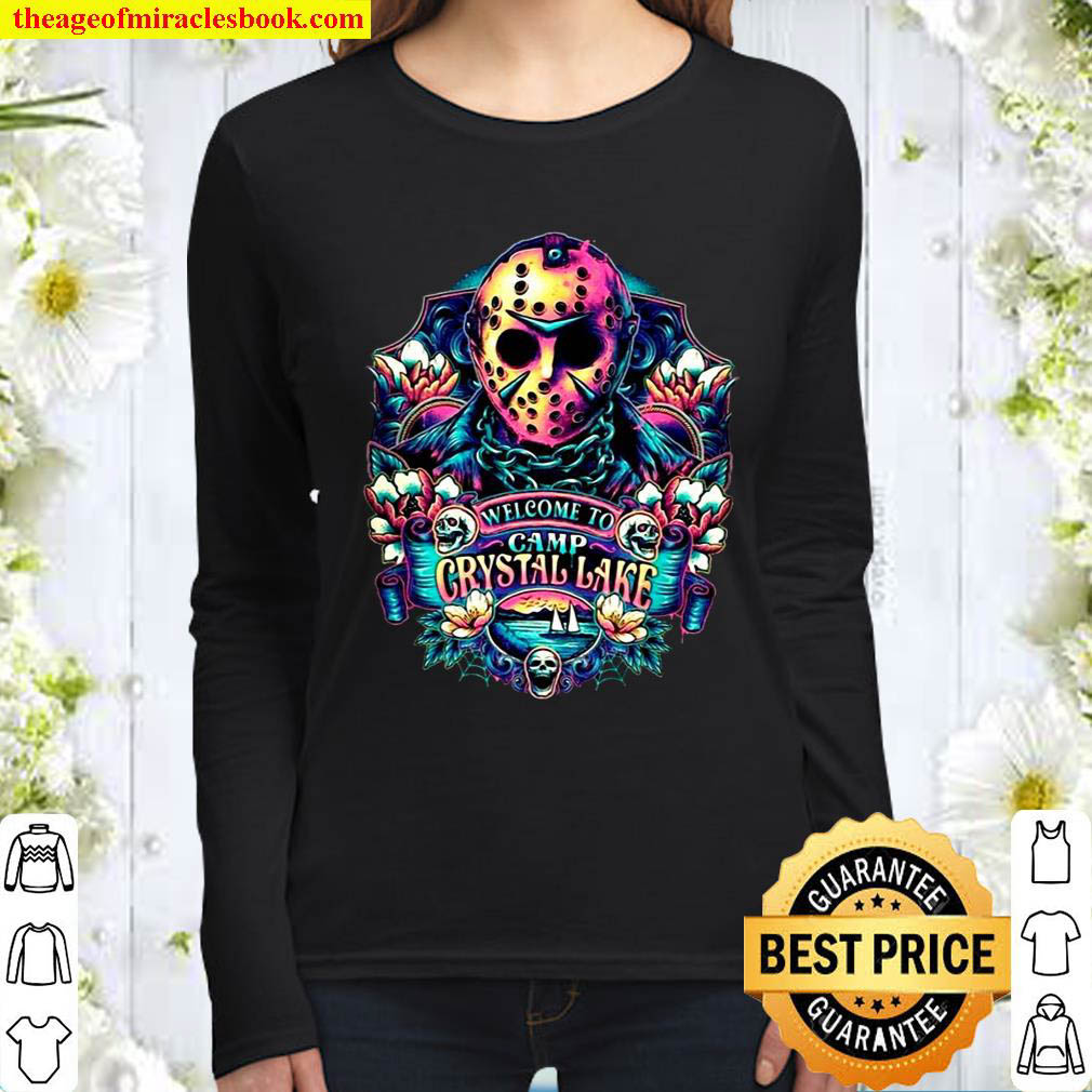 Welcome to Camp Crystal Lake Jaosn Vorhees Women Long Sleeved