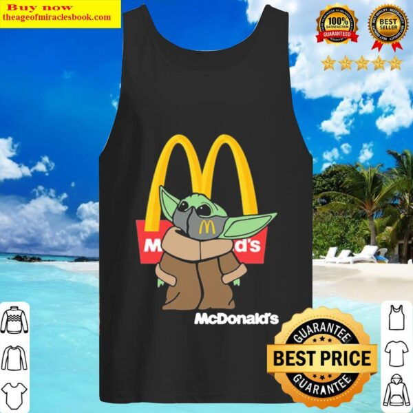 Baby Yoda The Child Face Mask And Mcdonalds Logo Tank Top